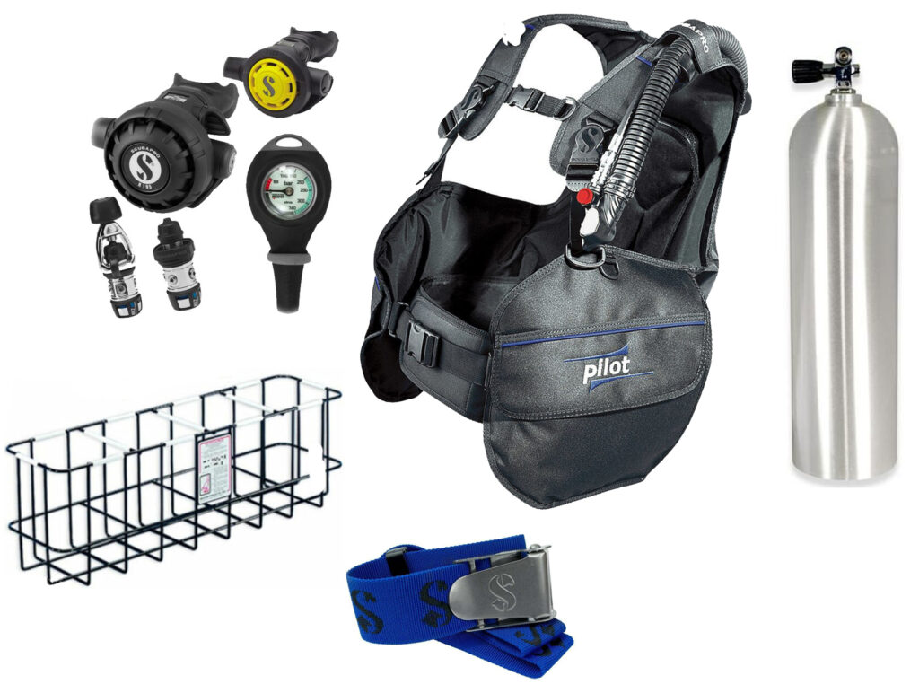 scuba diving equipment packages